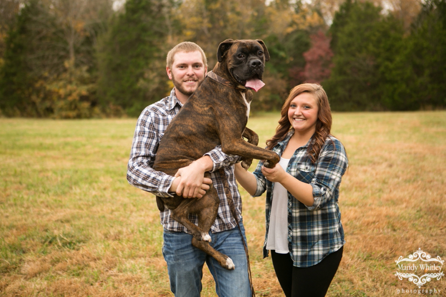 engagement photos with dogs pet photographer nashville