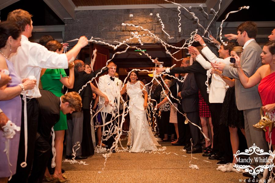 Nashville Wedding Streamer Exit Wedding Photographer