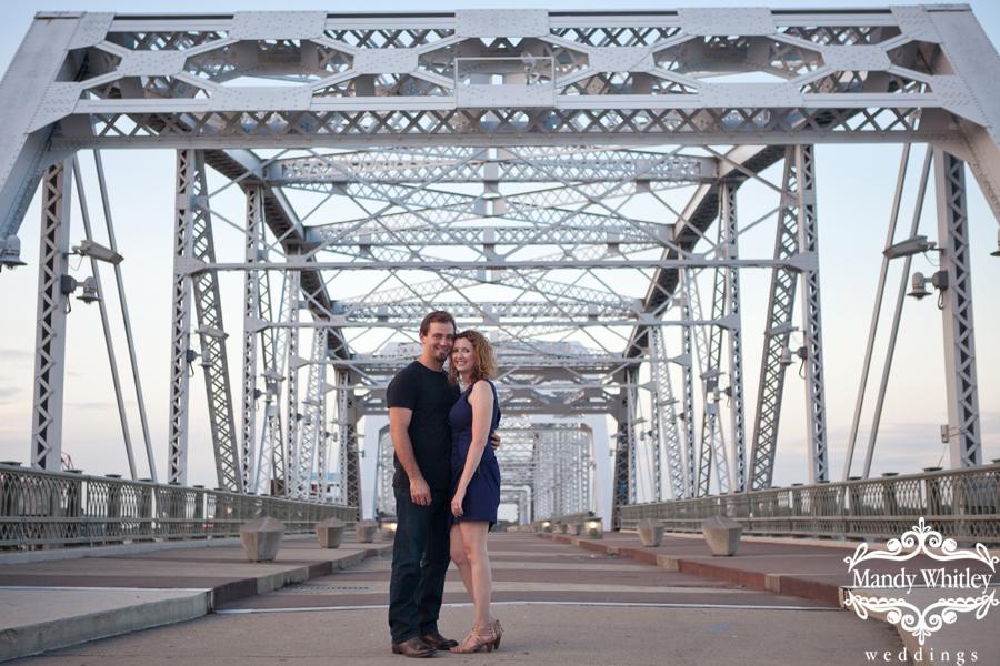 Downtown Nashville Engagement Photographer Pedestrian Bridge