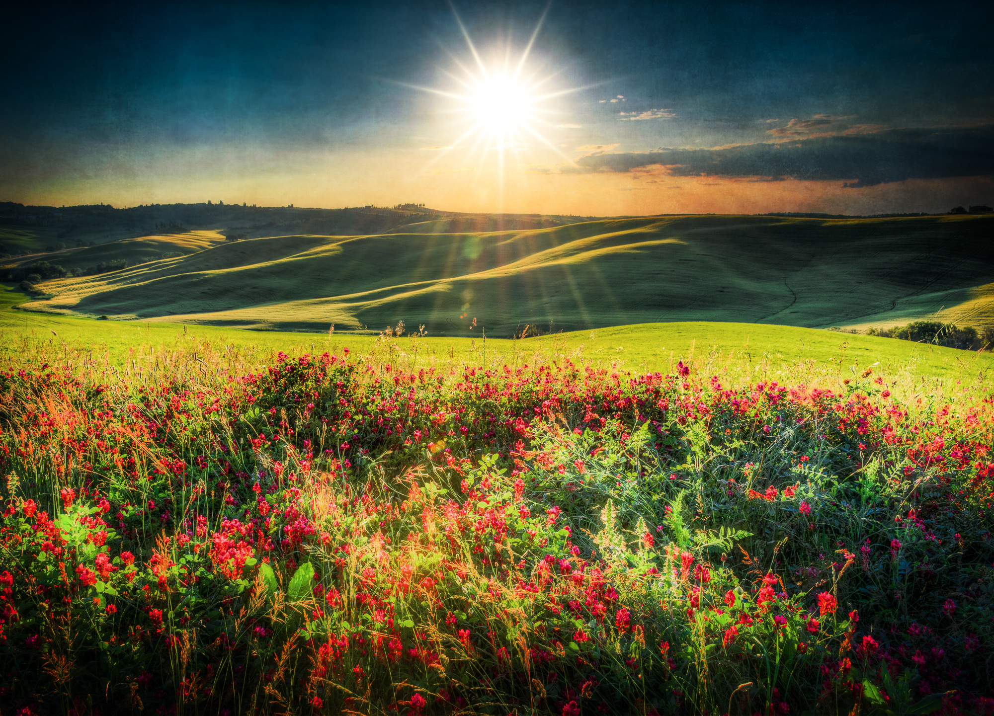 Val d'Orcia sunset