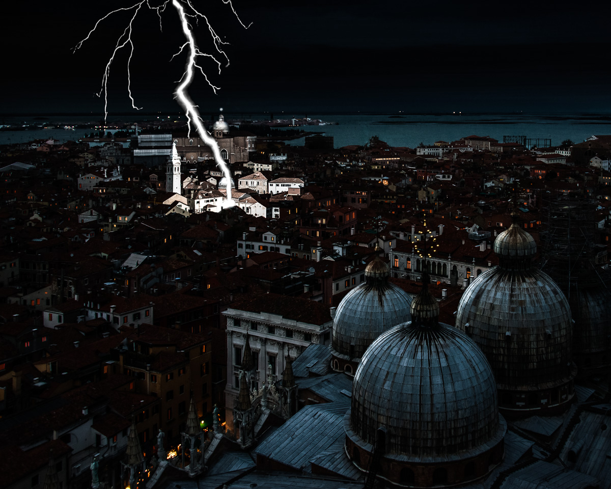 Lightning Storm in Venice