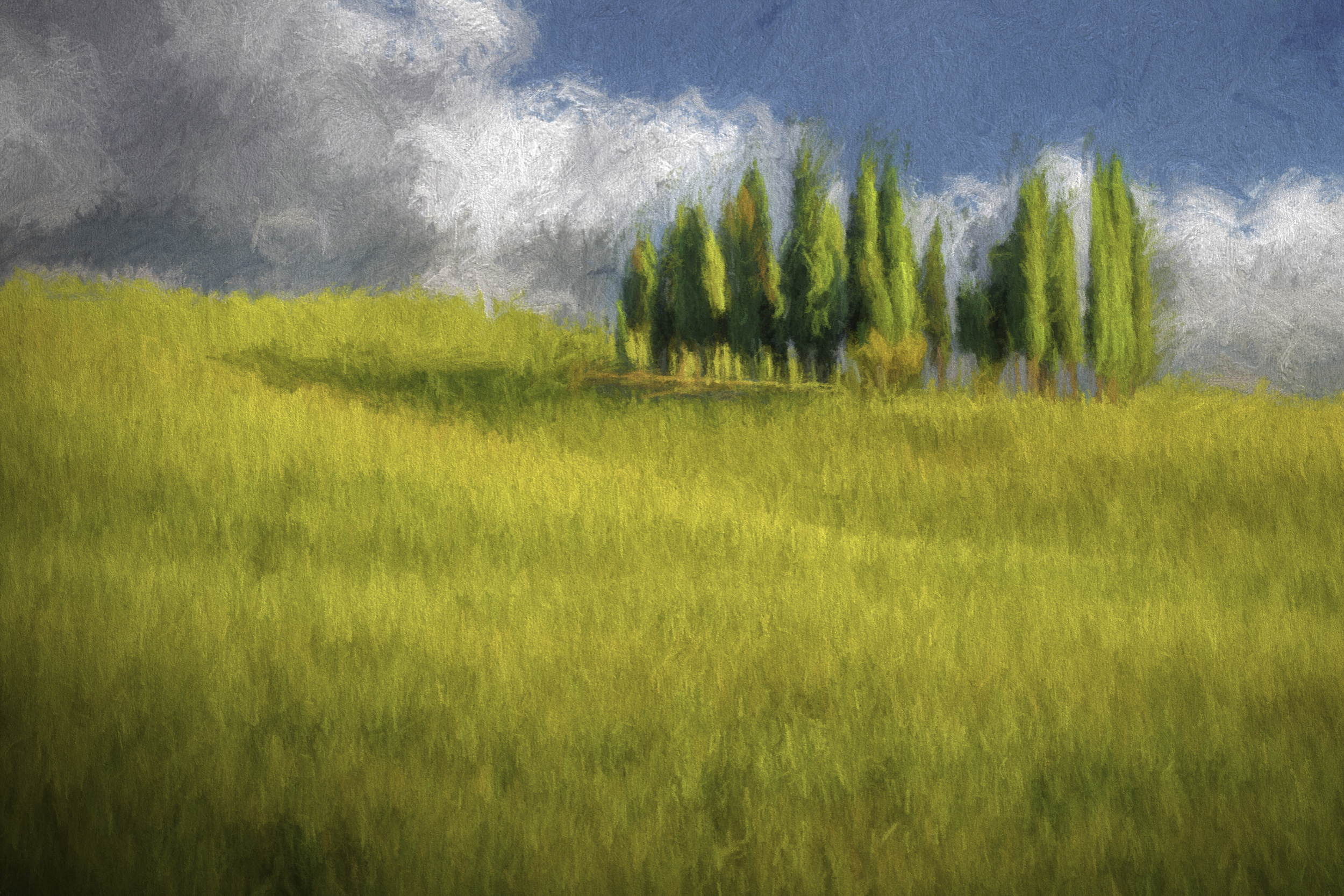 A storm is coming digital oil painting