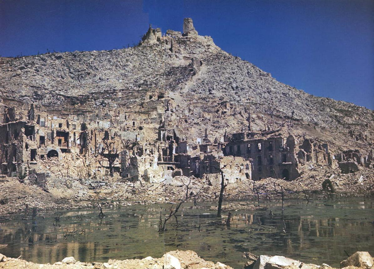 What was left of Monte Cassino after the long seige