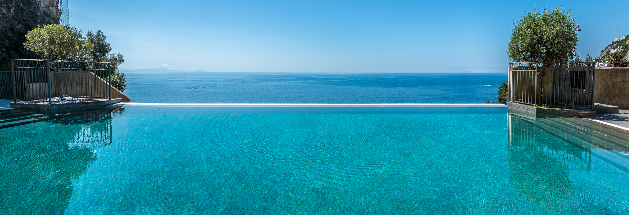 The infinity pool, with an infinite view of the Med