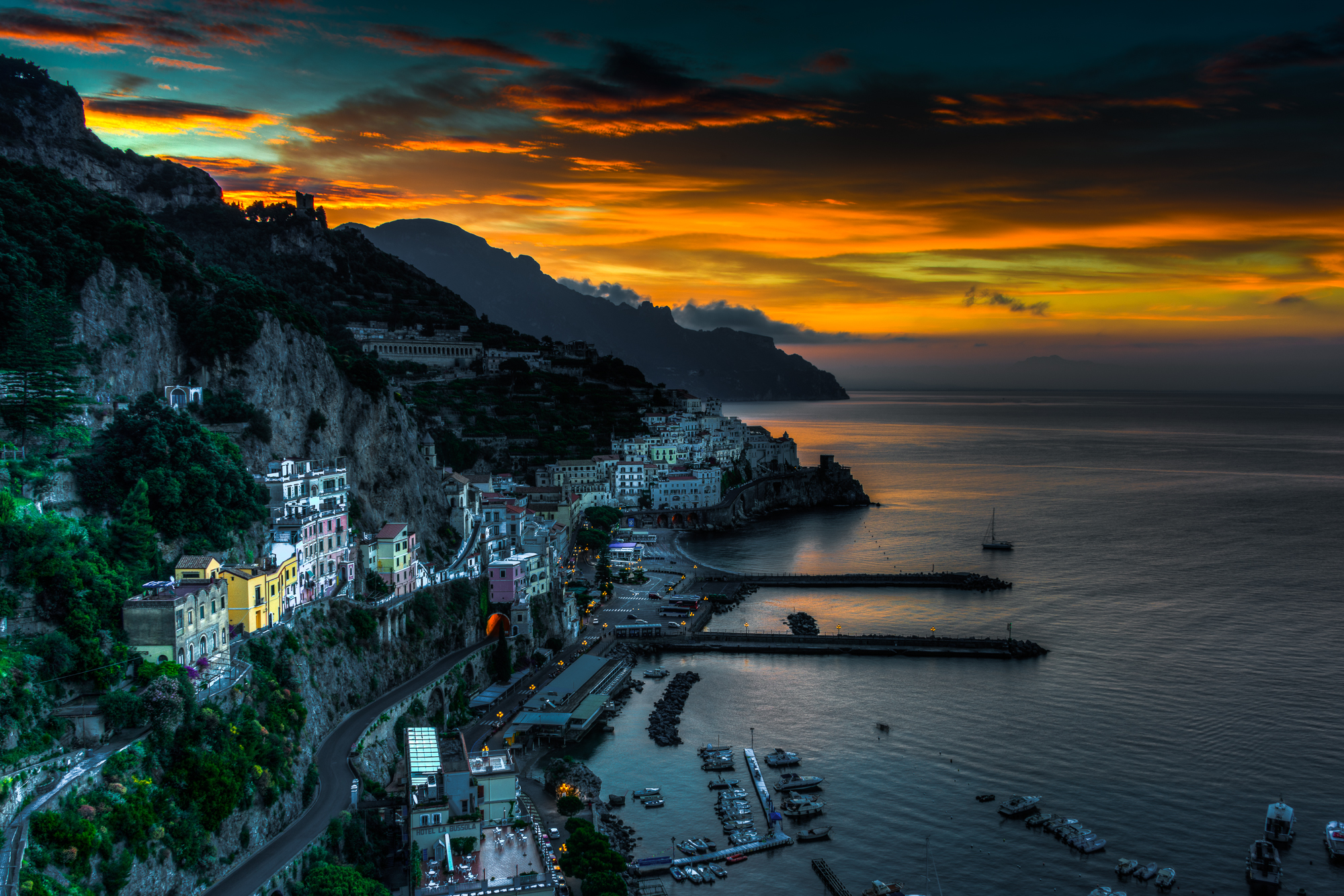 Sunrise comes to the Amalfi Coast
