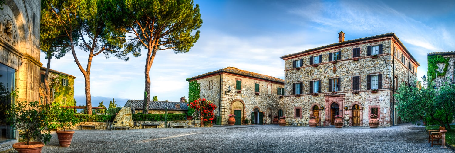 Just part of the beautiful grounds of Borgo San Felice
