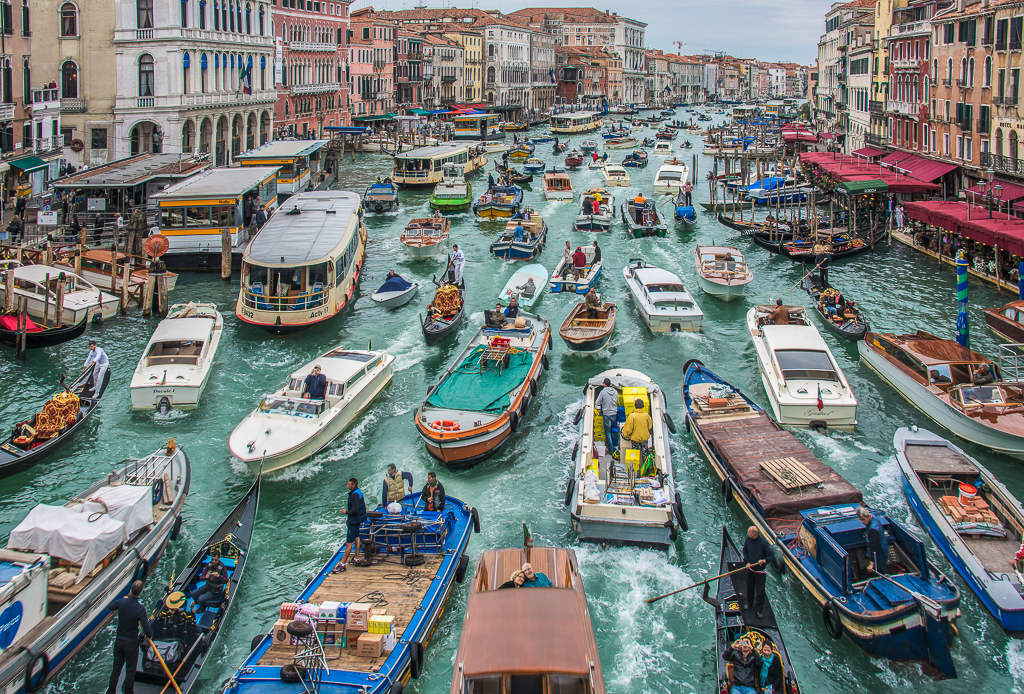 Busy Day on the Grand Canal