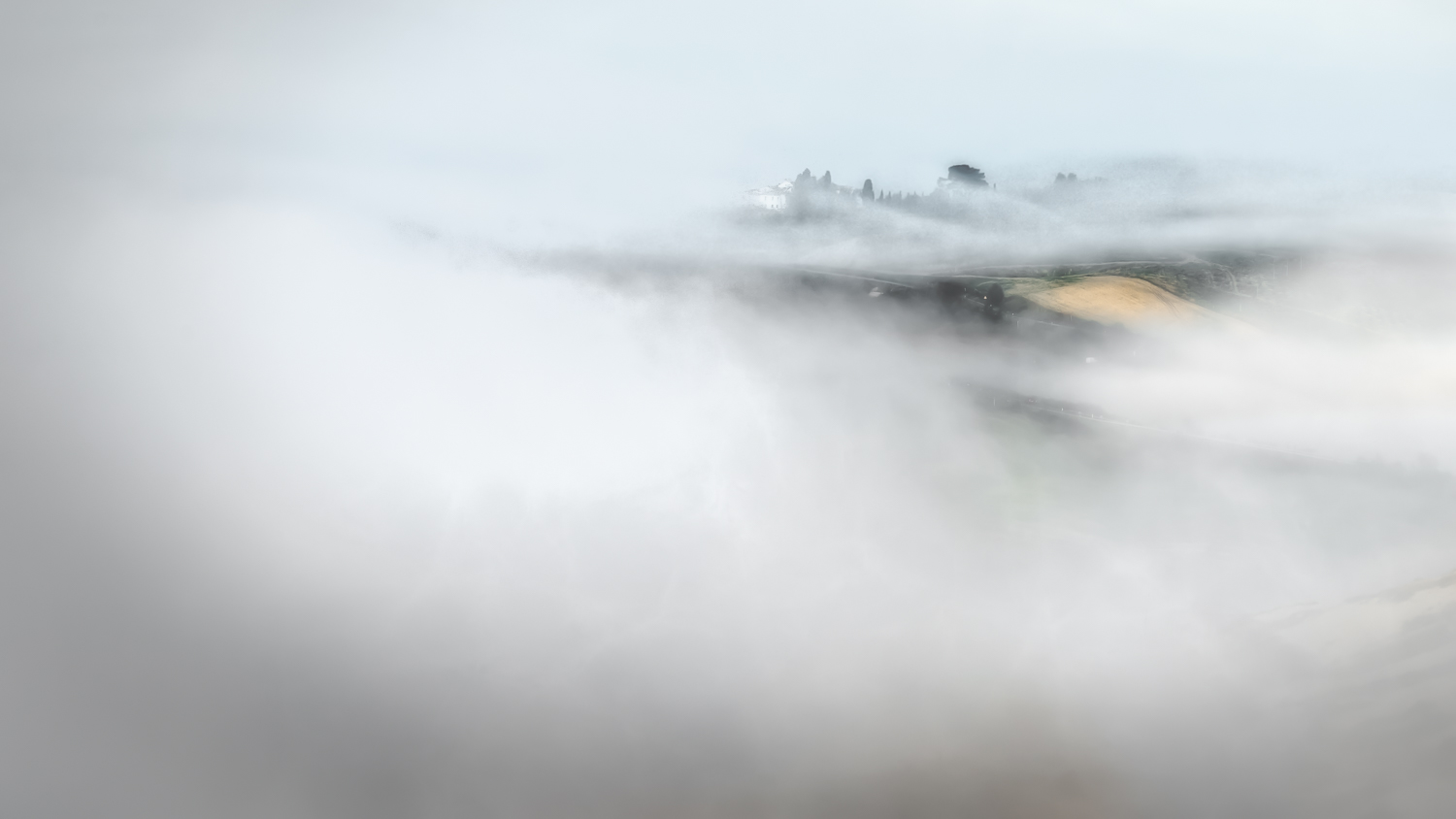 Just a hint of a Tuscan villa shrouded in fog