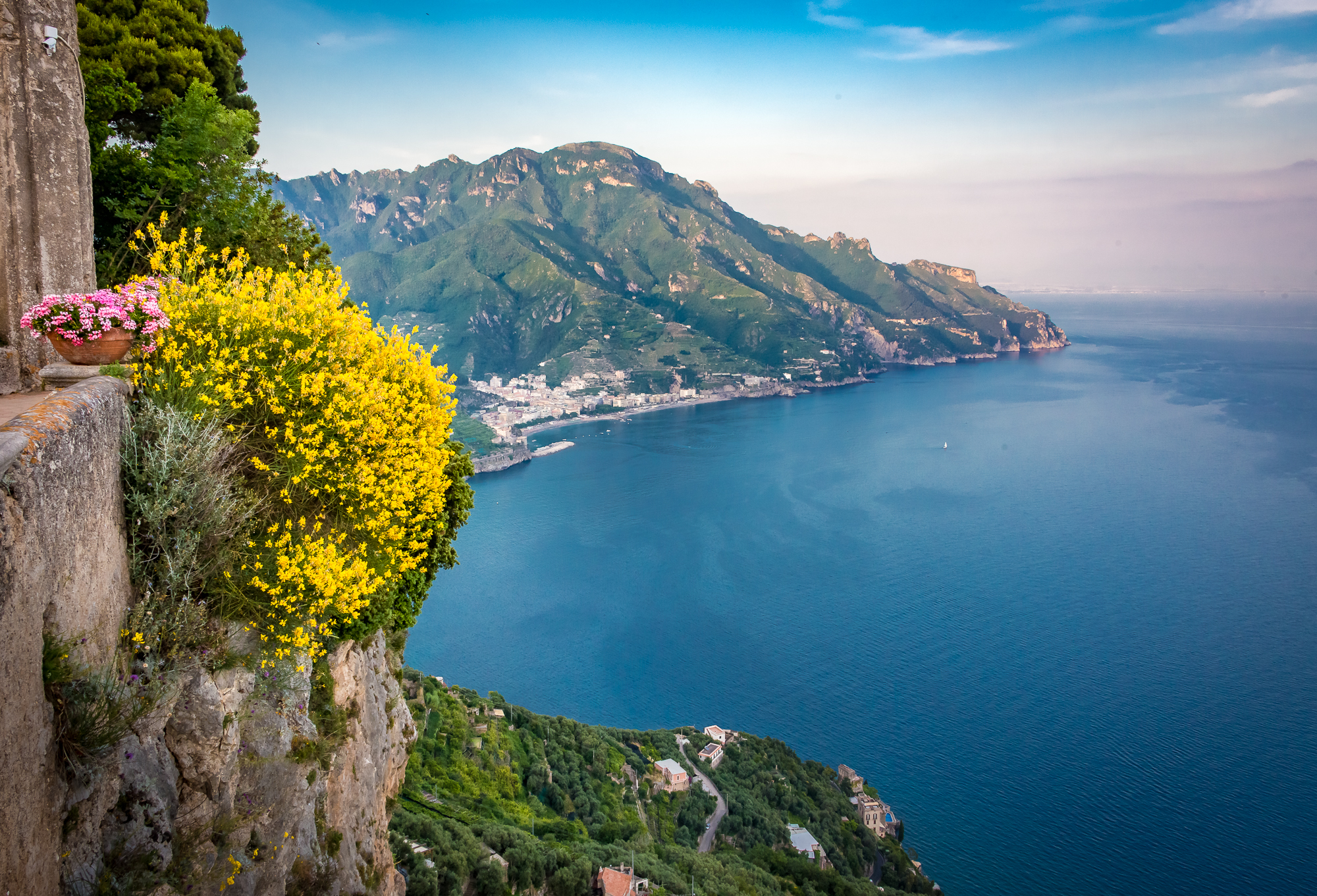 View of the Amalfi Coast looking to the east