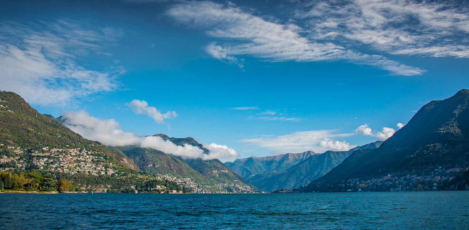 The lake opens up before you as our Lake Como journey begins