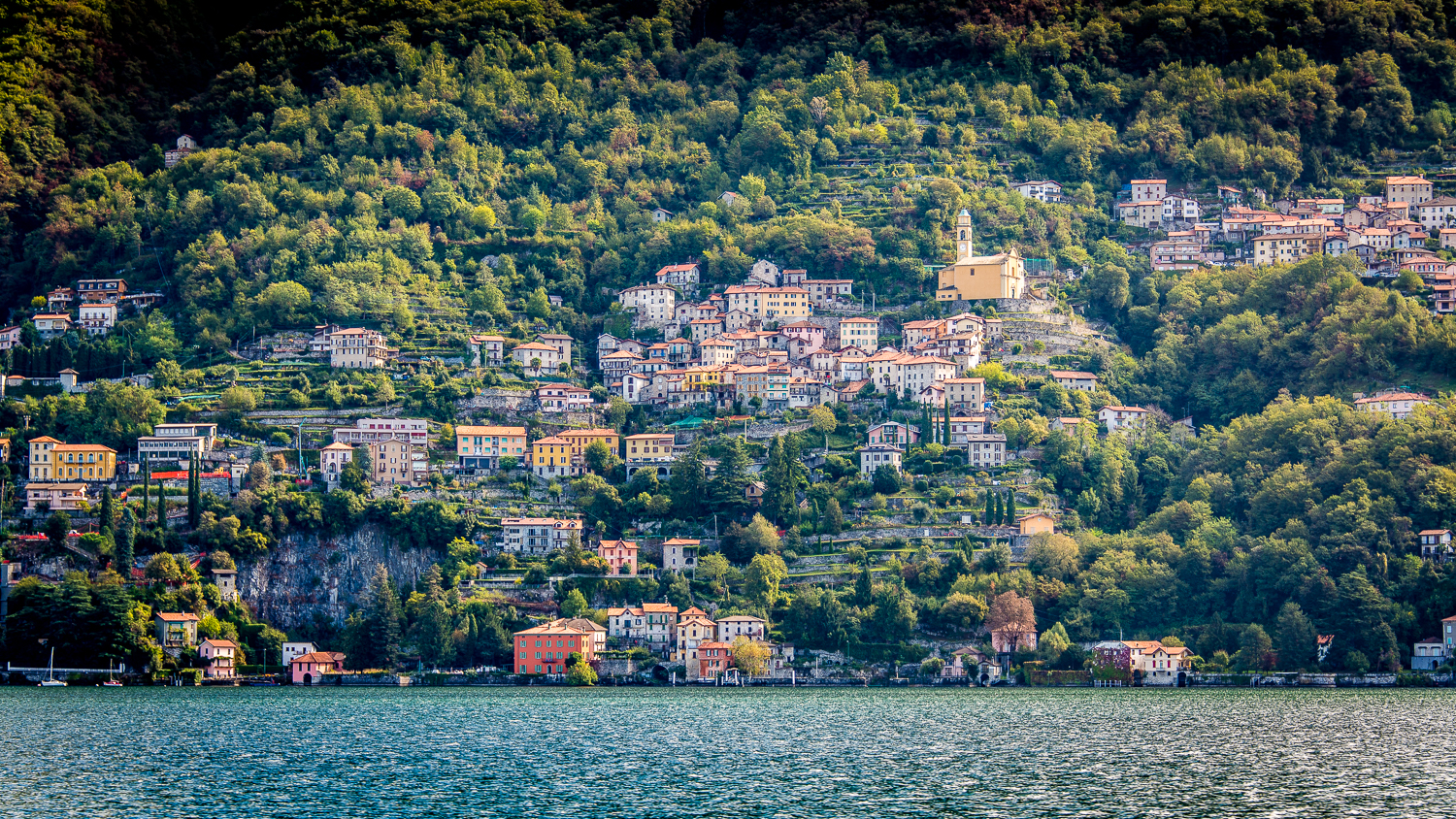 Just one of the many lakeside towns you will see on your slow-boat journey to Bellagio