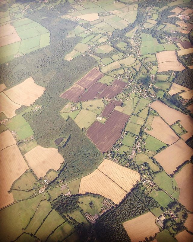 Just love the English countryside...so beautiful and peaceful. #England #fromtheair