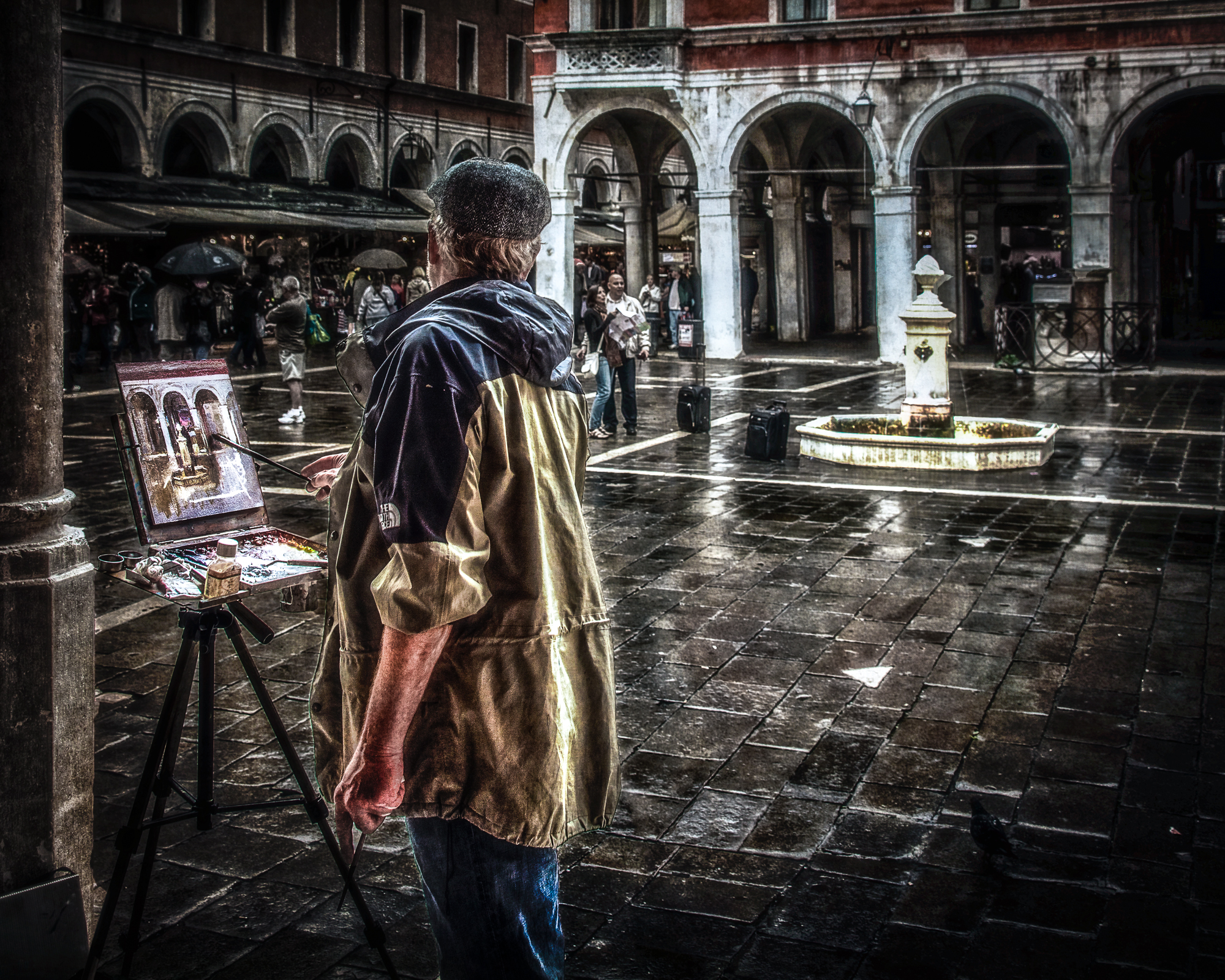 An artist at work...the virtual and the real