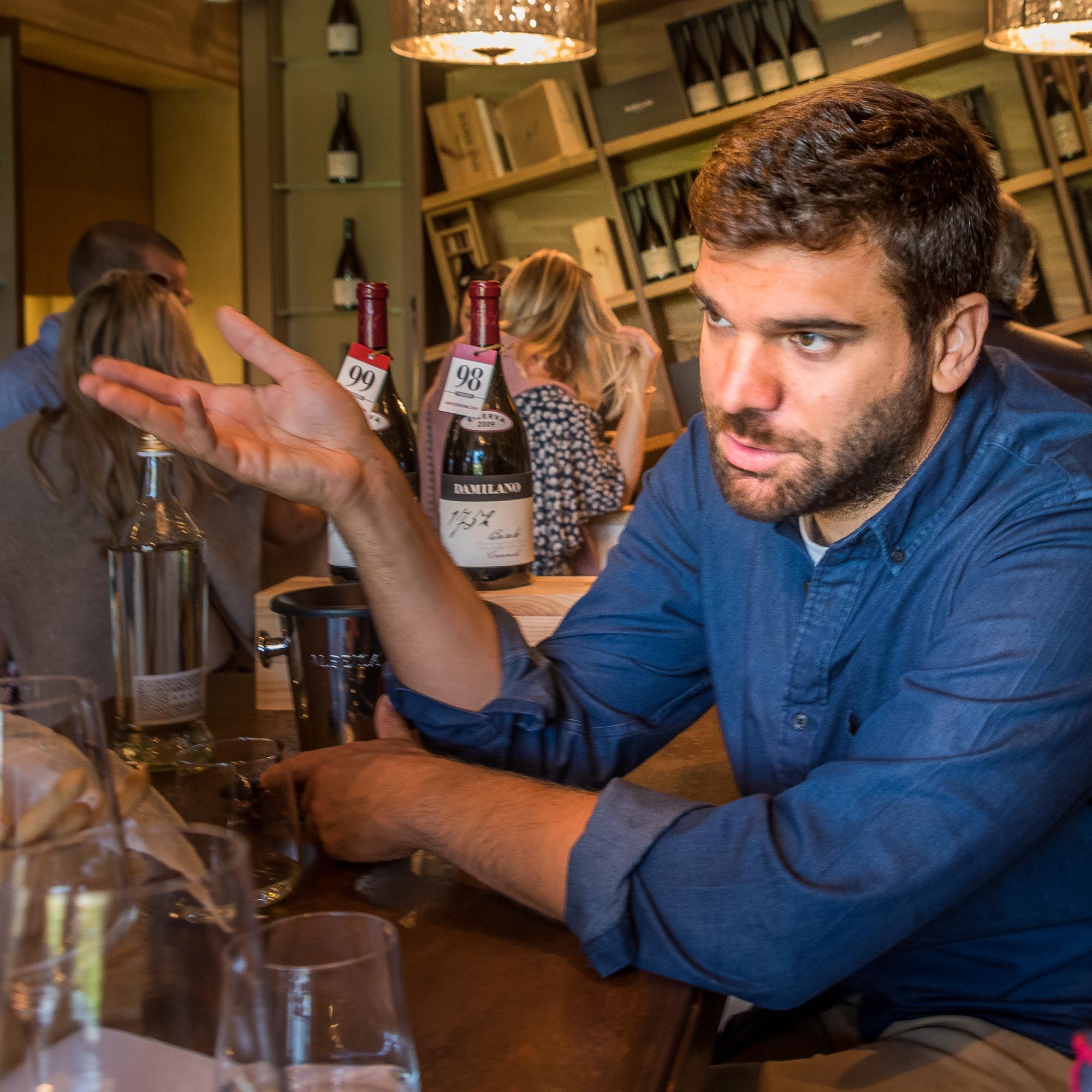 Our wine guide for the day, Matteo Montegazza