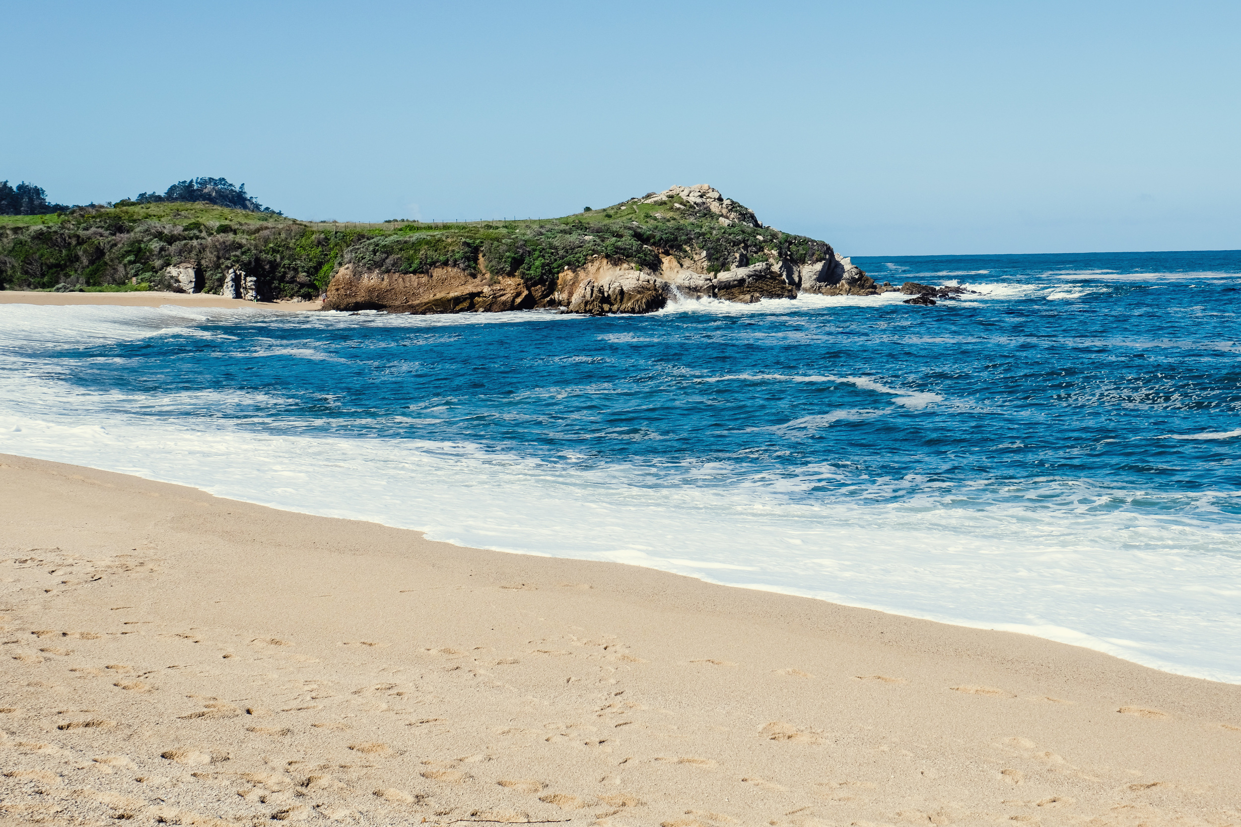 as we leave monterey, ca we enjoyed the morning breeze at  carmel river cove along hwy 1