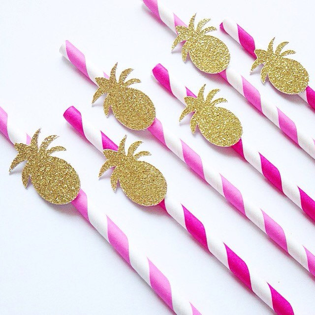 P  INEAPPLE PAPER STRAWS FROM  DIXIEANDTWINE