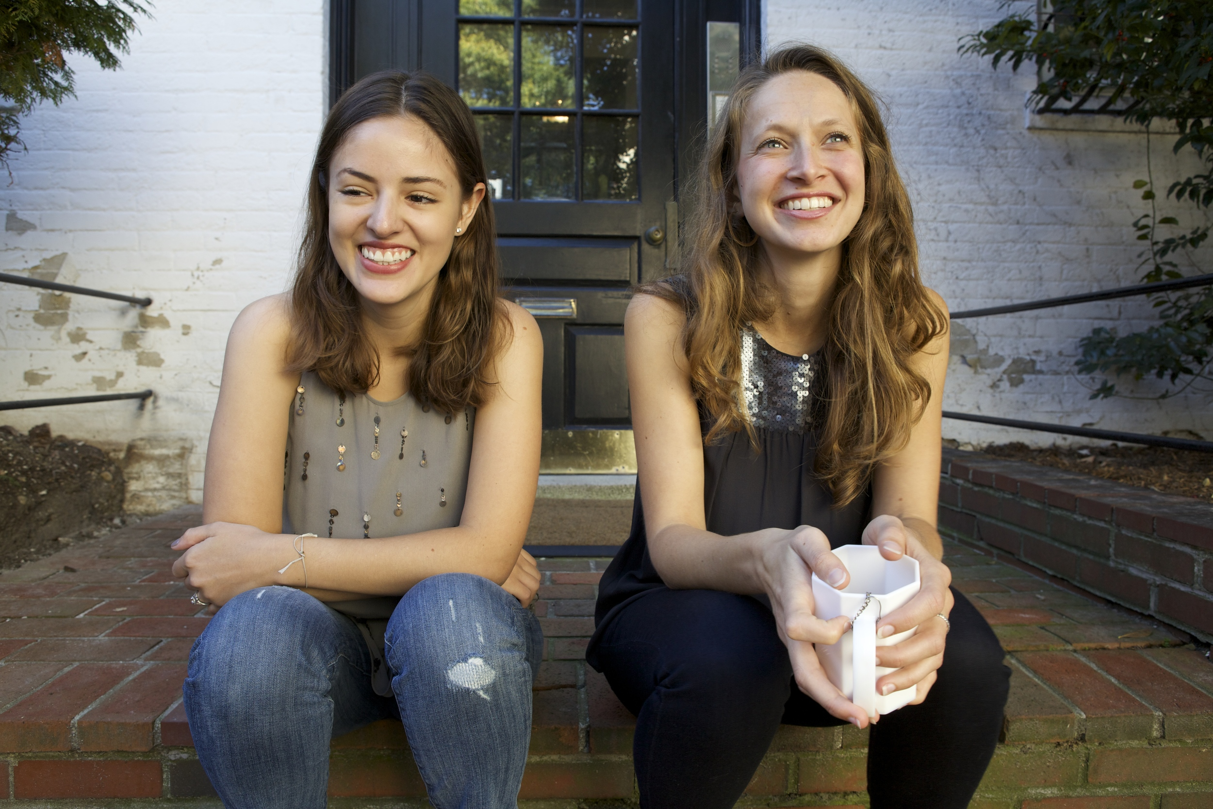 isabel bonenfant (left) and kate kellman (right), founders of of  note stationers,  a boston based paper goods company specializing in the art of written note.