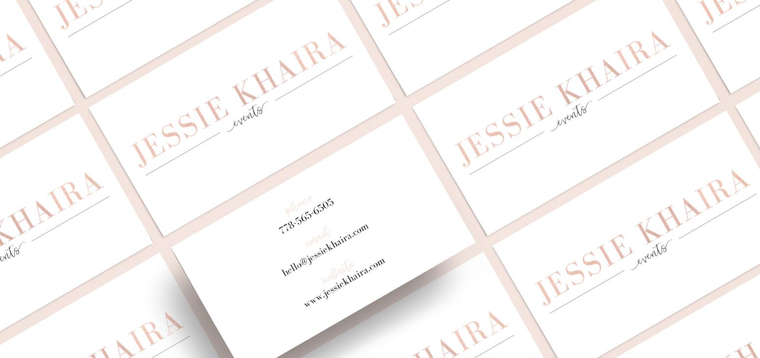 PRINT DESIGN FOR  JESSIE KHAIRA EVENTS