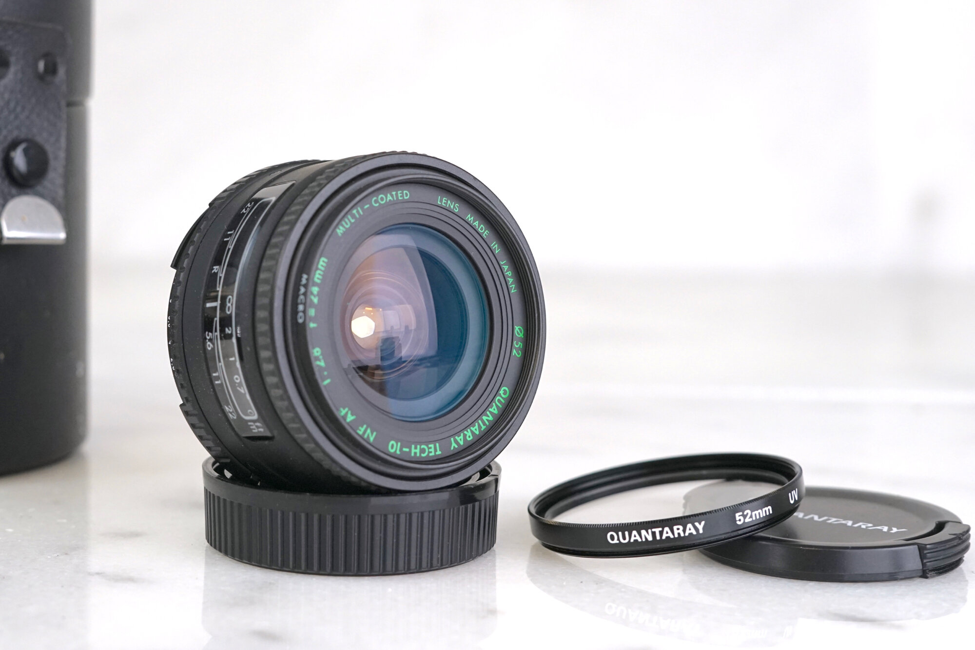 Fit A1 AE-1 Older Camera Canon FL 200mm f//1:3.5 Lens with Built-In Metal Hood