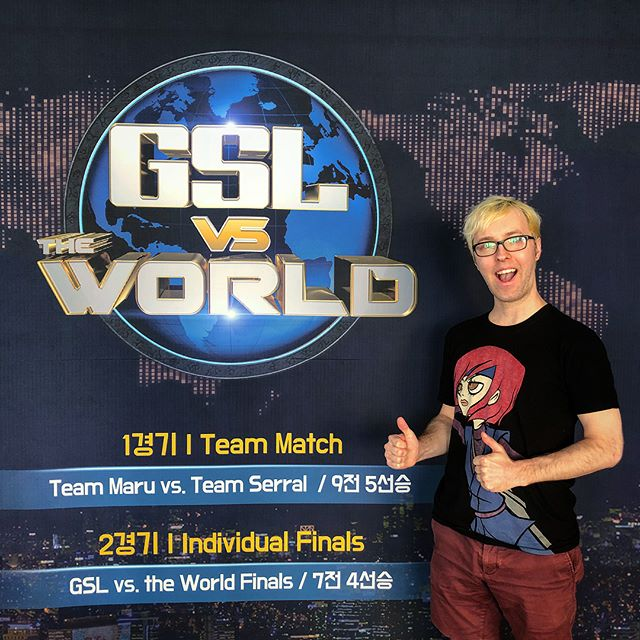 Got to witness #Starcraft2 history with Serral winning #GSLvsTheWorld! Experiencing some of the best matches of the year with your favorite players facing off against each other right inside the GSL Studio in Seoul...definitely worth the trip! Also got to meet a lot of amazing players, fans, and casters. Everyone was super friendly and excited to be there. Great atmosphere!