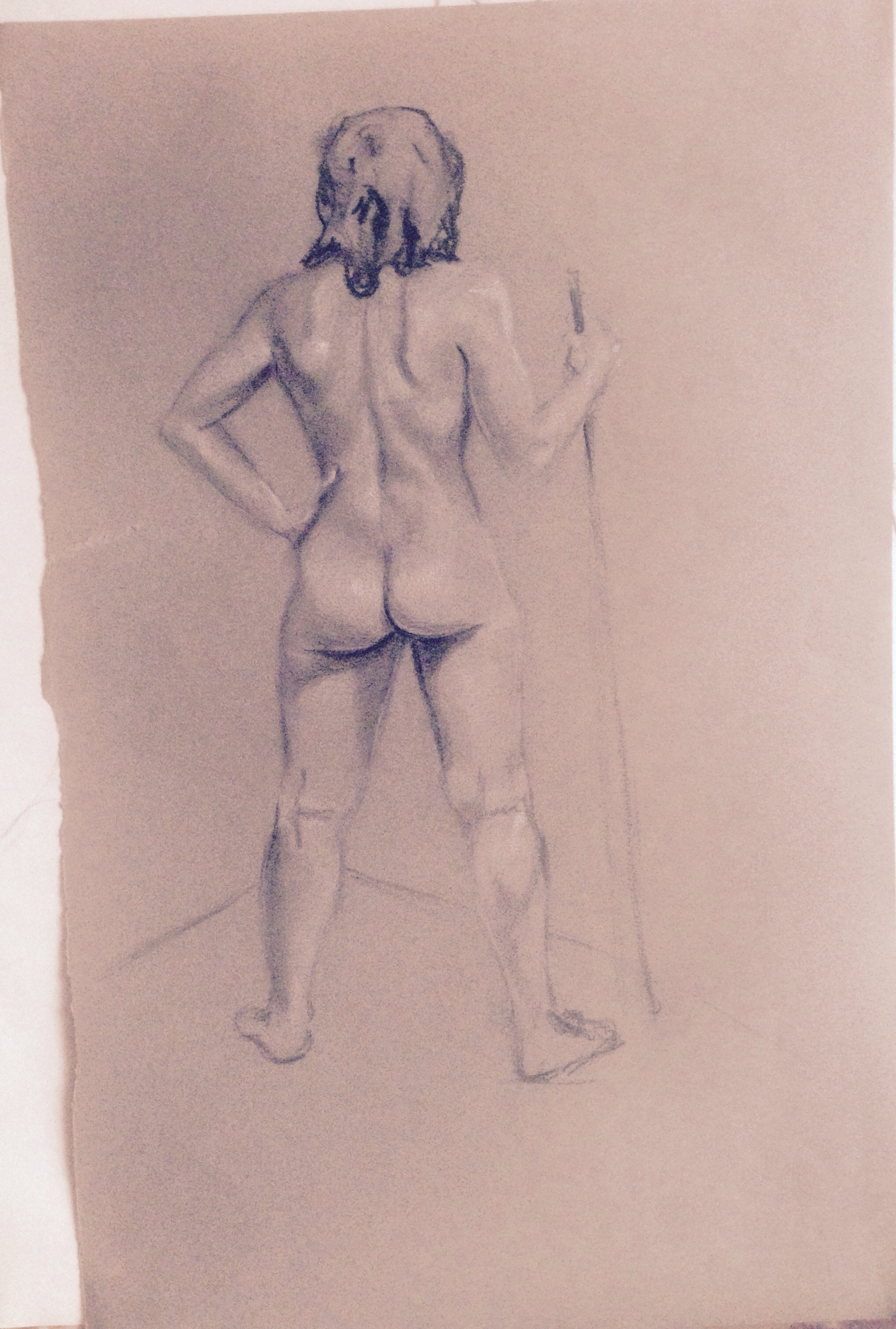 figure sketch, Carrie Able