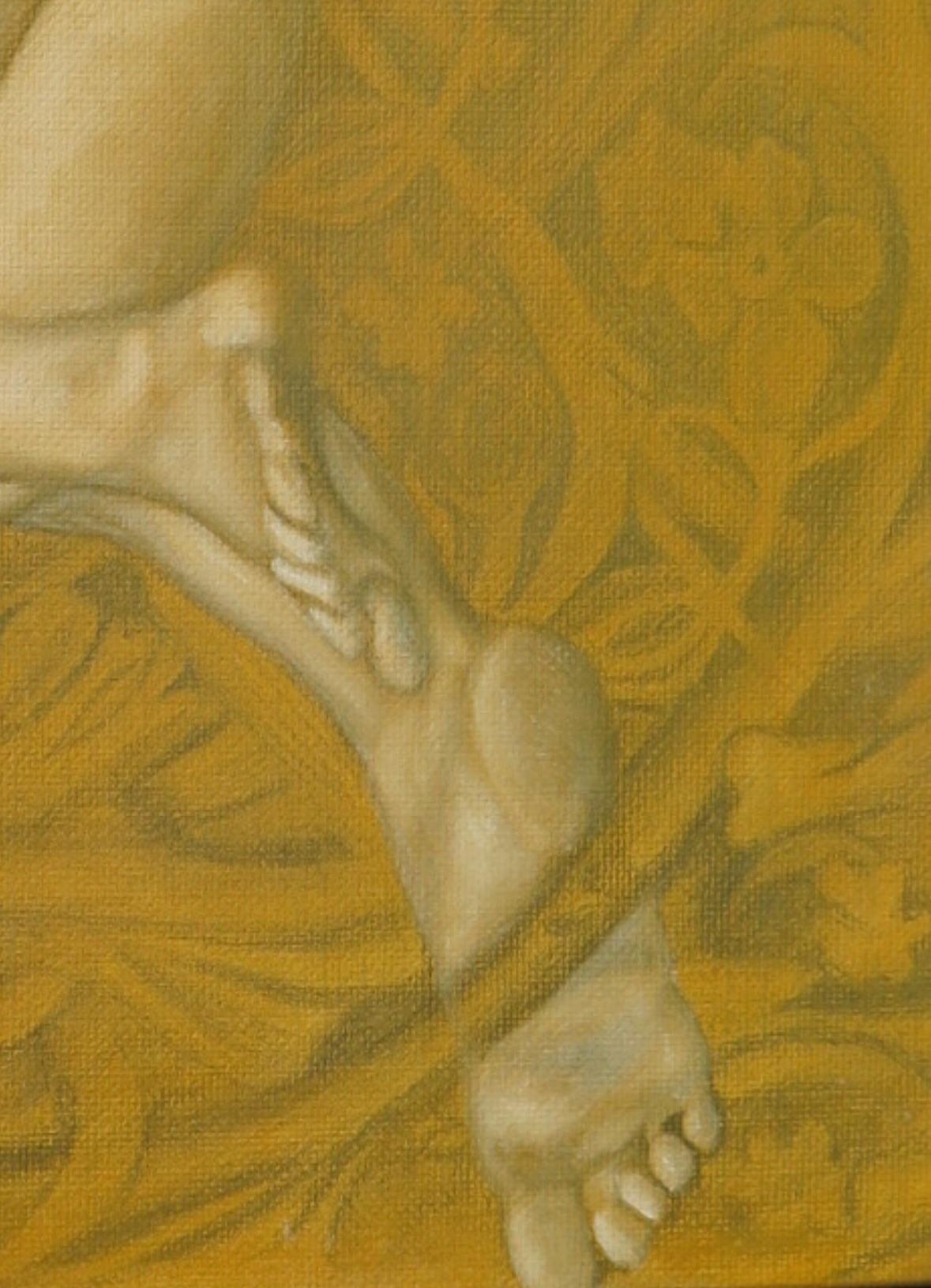 Progress- oil on linen under painting
