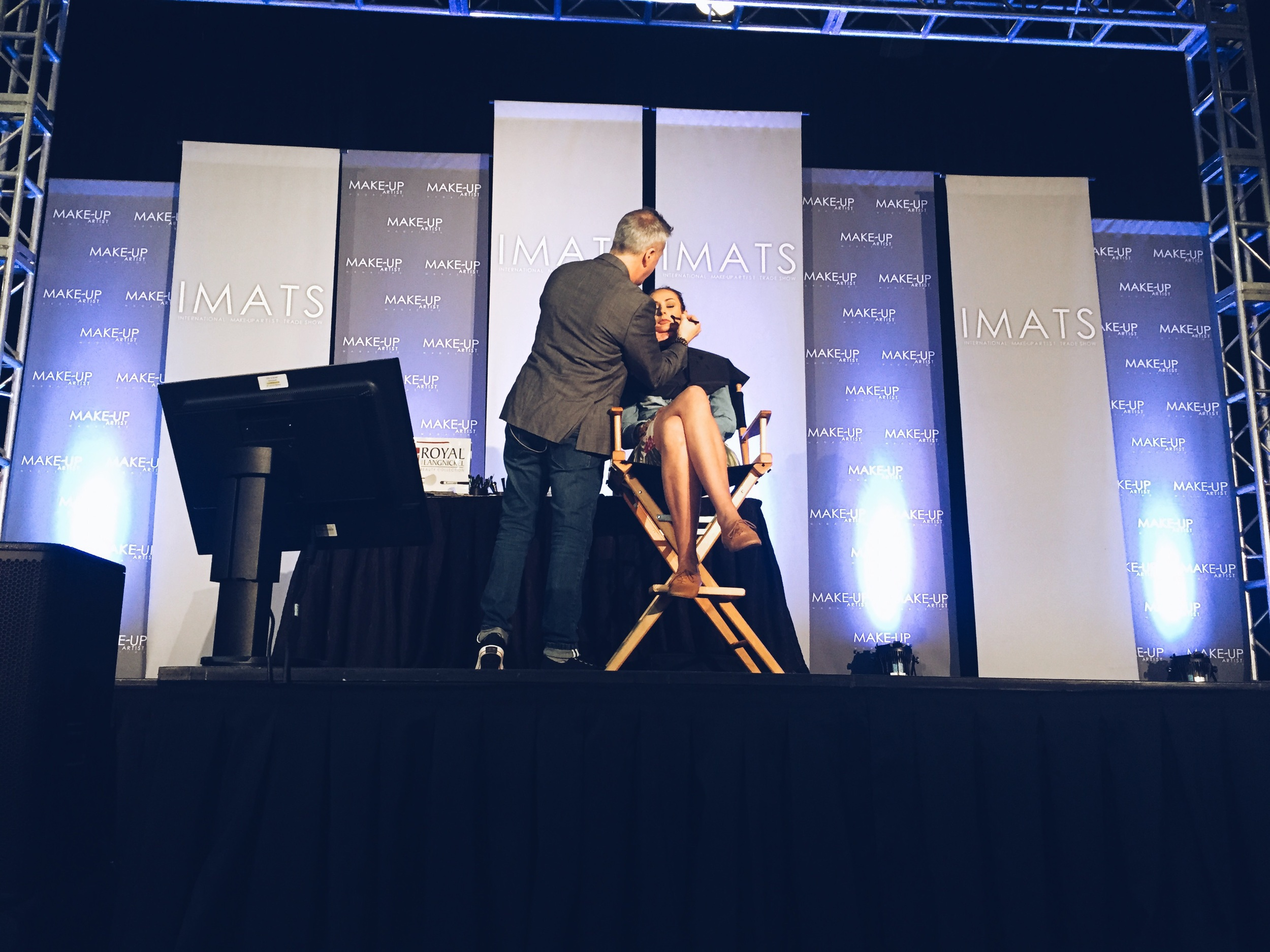 Kevin at work on the IMATS main stage.