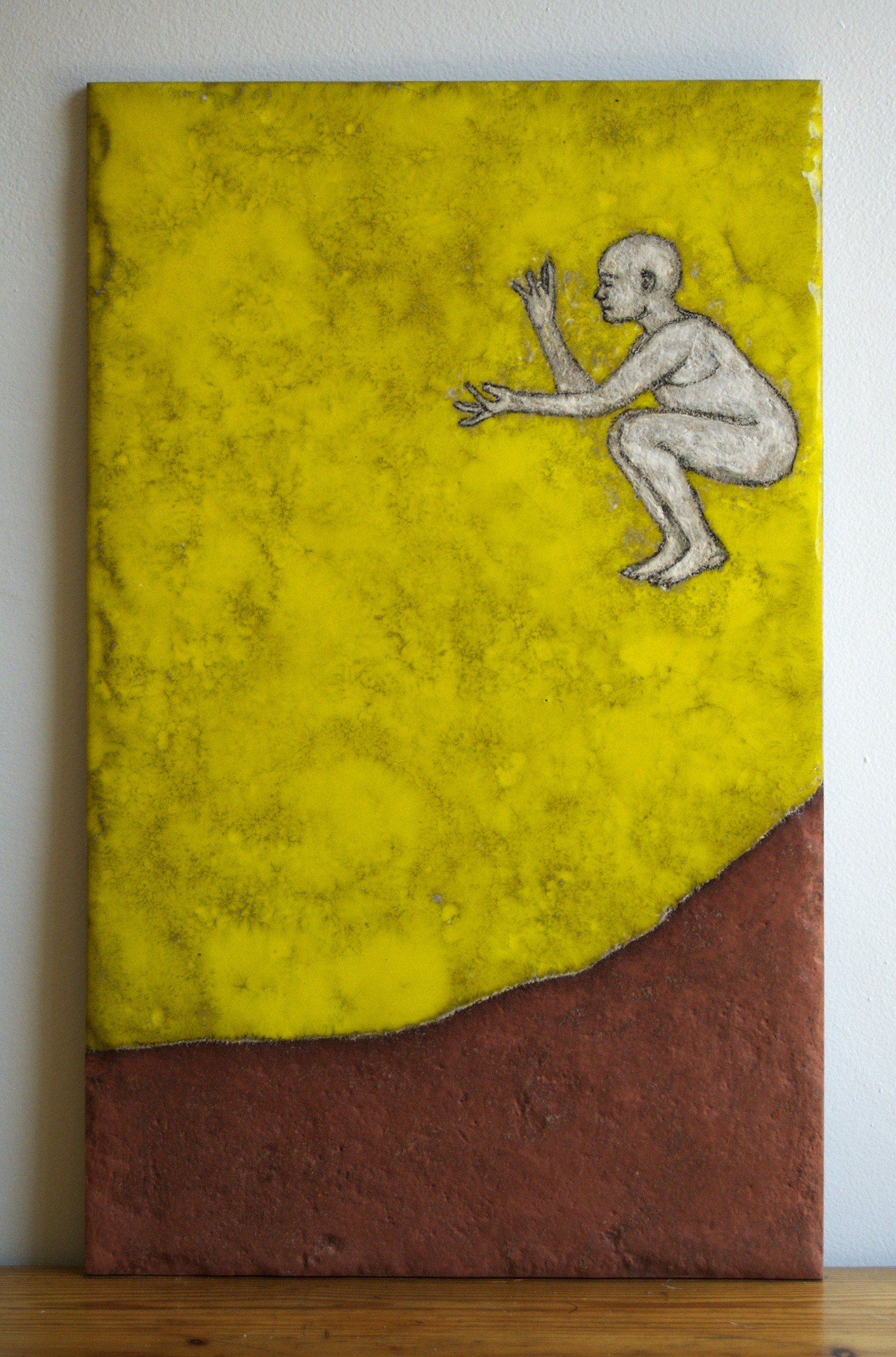 "Dust , Ceramic tile, glazes, 21 ""x 13"""
