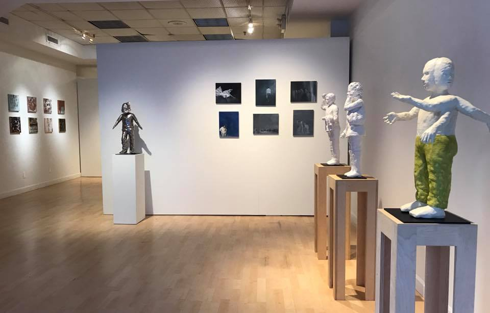 All the Names, Artifact Gallery, NYC, sculpture and painting