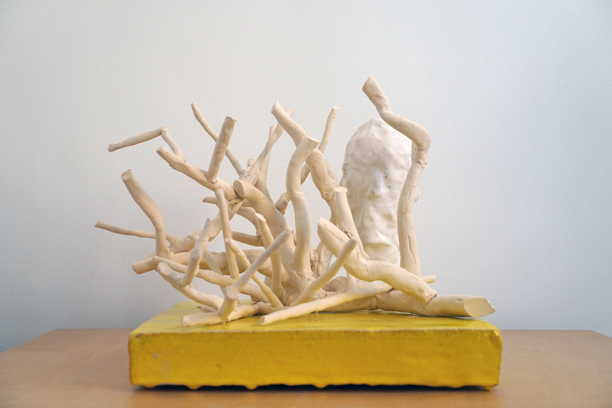 """For Once then Something, Ceramics, 15"""" W x 13"""" D x 12"""" H"""