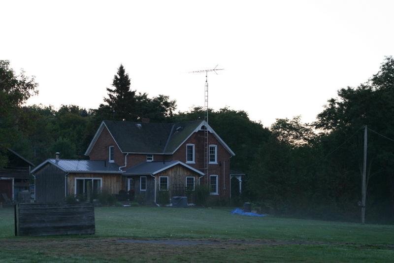 Misty morning at the farmhouse