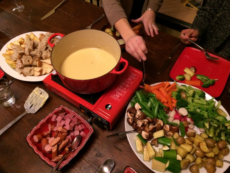 Cheese fondue feast