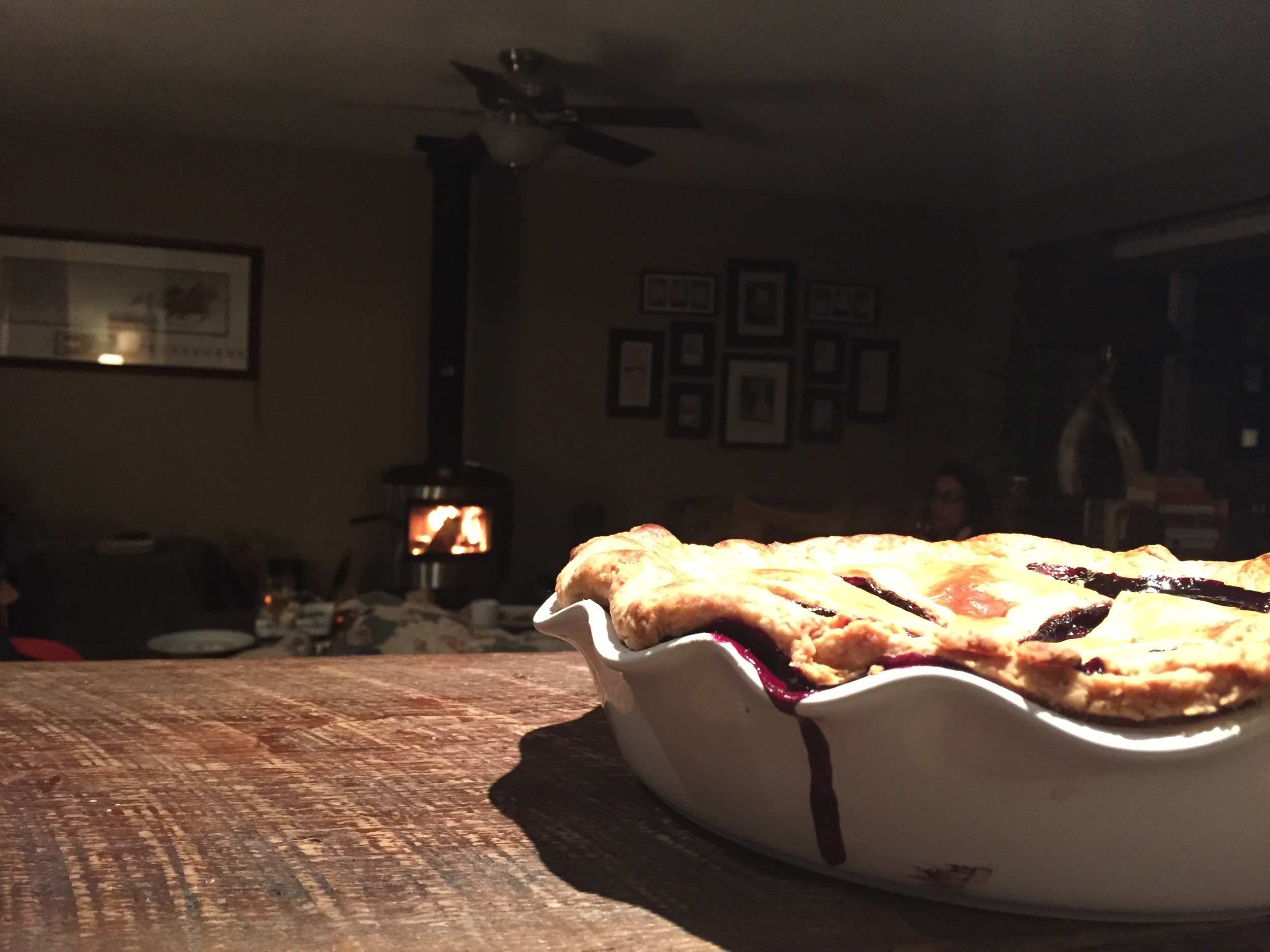 Pie by the fire