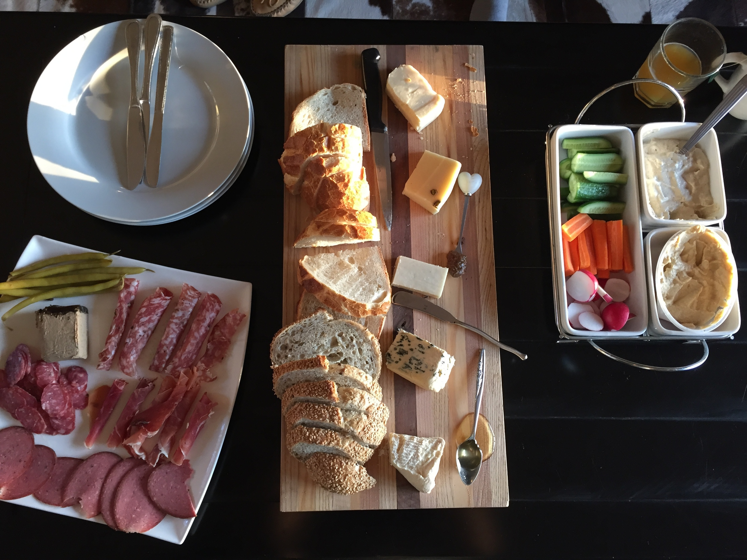 Cheese and charcuterie spread