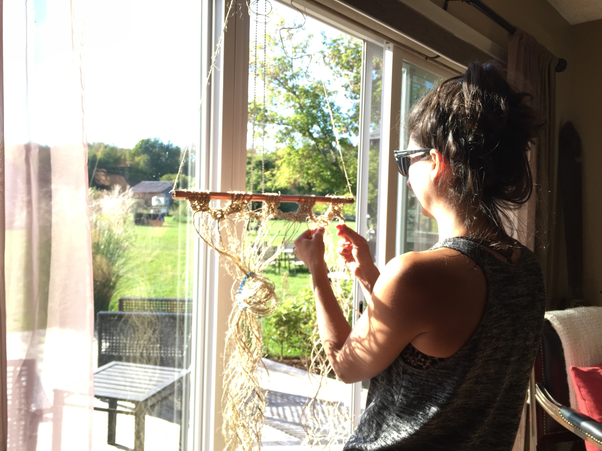 Macrame in the sun
