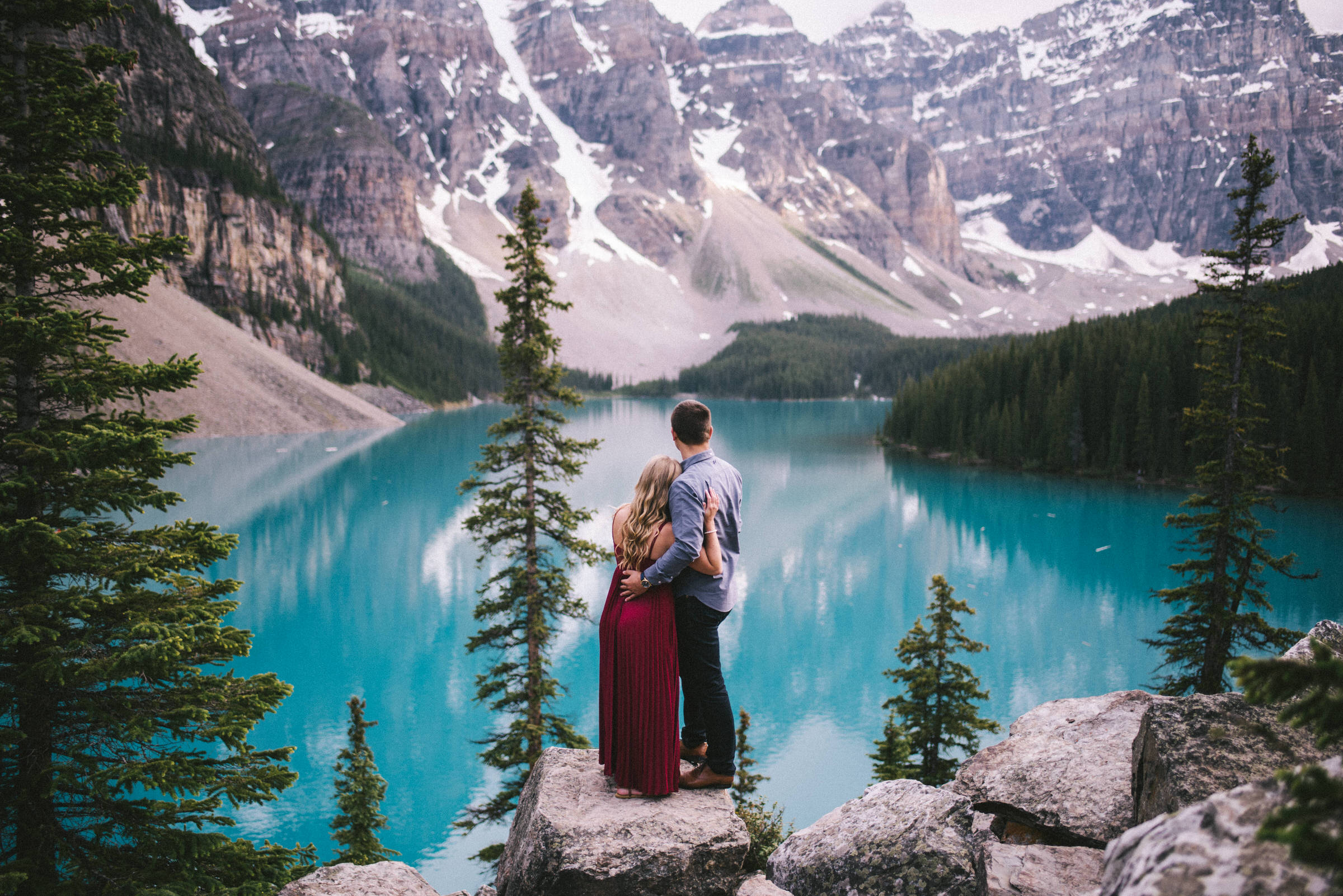 Banff Lake Louise Engagement Photographer