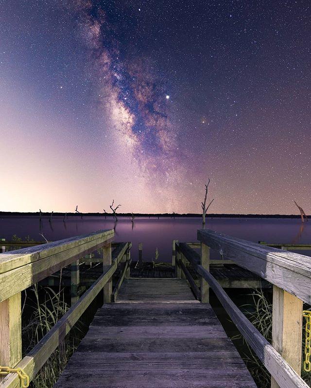 Milky Way over the creepy abandoned lake 🌠🌠 Big thanks to @behind_bvp for hanging out and talking to the owls for awhile. . . #igofhouston #canonusa #milkyway #houstonian #nightshooters #milkywaychasers #longexposure #instagood #igpodium_night #urbanandstreet #resourcemag #houston #milkywaychasers #astrophotography #igtexas #moodygrams #galaxy #exploretocreate #longexpo_addiction #createcommune #astrophotos #superhubs #createexplore #heatercentral #visualarchitects #visualambassadors #visuals #visualsoflife #teamcanon #stars