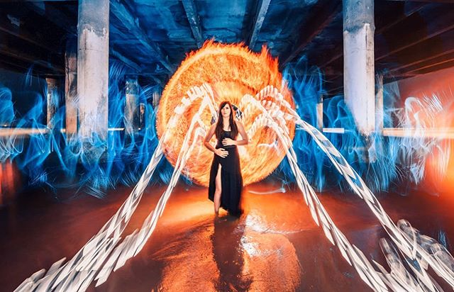 Fire, water, and lots of light! Everything you see here was created in one single exposure lasting around 4 minutes. Made with my home made torches and the amazing @lightpaintingbrushes feather plexi and 3' fiber whip. I'll have a video soon showing how we pulled it off! Thanks to @beau_michael85 for the assist! . . #igofhouston #canonusa #nightphotography #fire #phlearn #way2ill #aovportraits #instagood #artofvisuals #longexposure #resourcemag #houston #tubetribe #litbyhand #moodygrams #flames #abstract #longexposure_shots #longexpoelite #lightart #fubiz #lightpaintingblog #nightshooters #visualarchitects #visualambassadors #imaginarymagnitude #nightphotography #teamcanon #yourshotphotographer