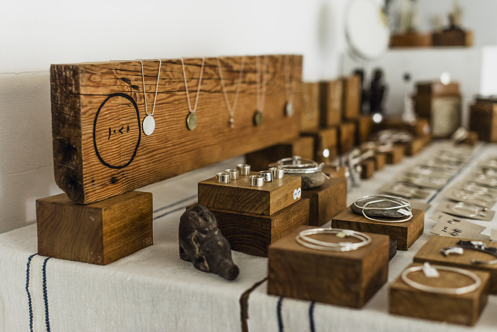 Each recycled silver piece is hand forged by Jes and her partner Sam in their Southern highlands home studio.
