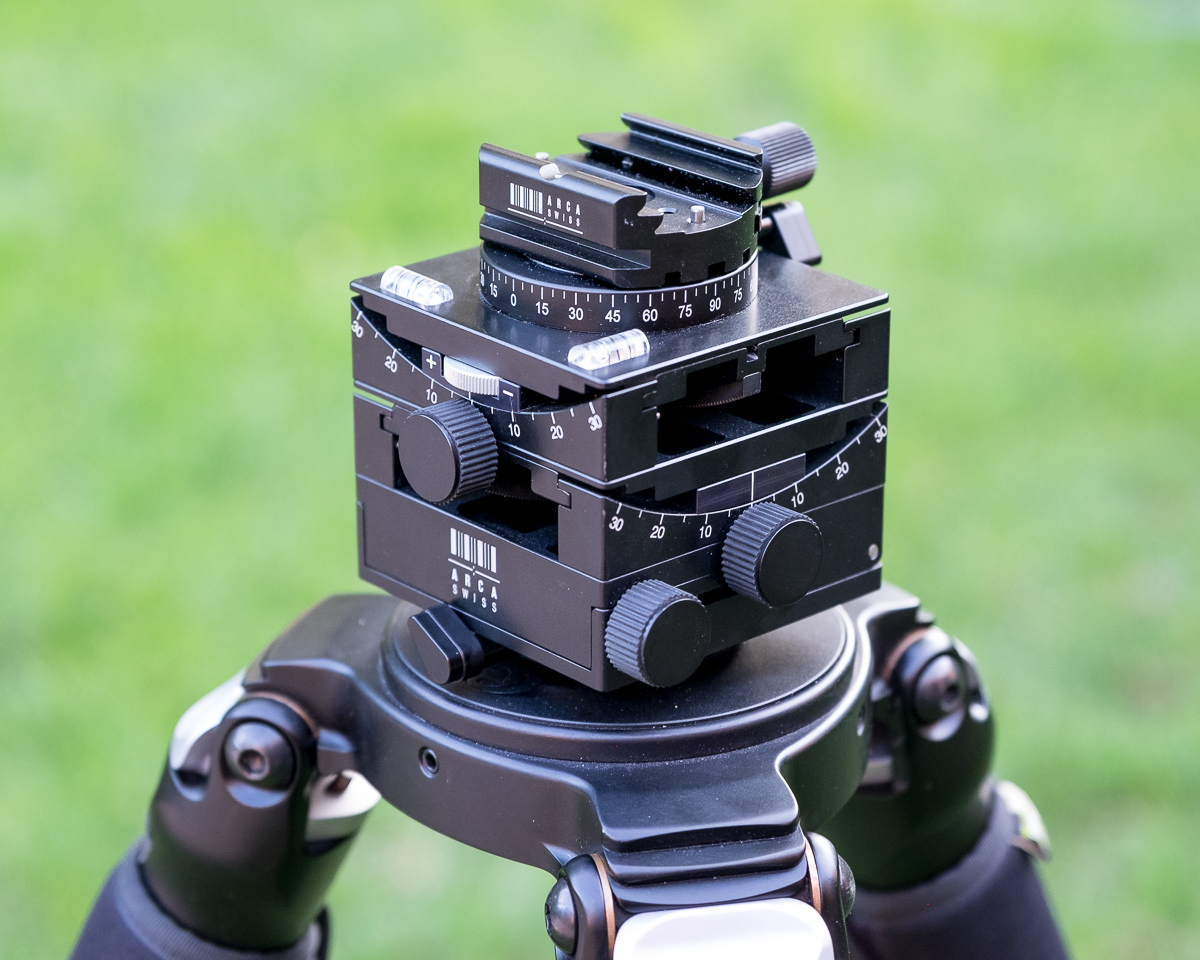 The Arca Swiss Cube C1 - A precision geared tripod head, capable of handling heavy camera loads.
