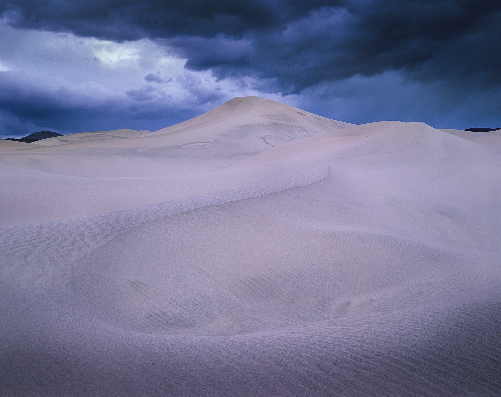 "Desert Storm, Chamonix 4x5, Rodenstock 90mm f/6.8, 30"" exposure @ f/32 on Fuji Velvia 50 - March, 2019"