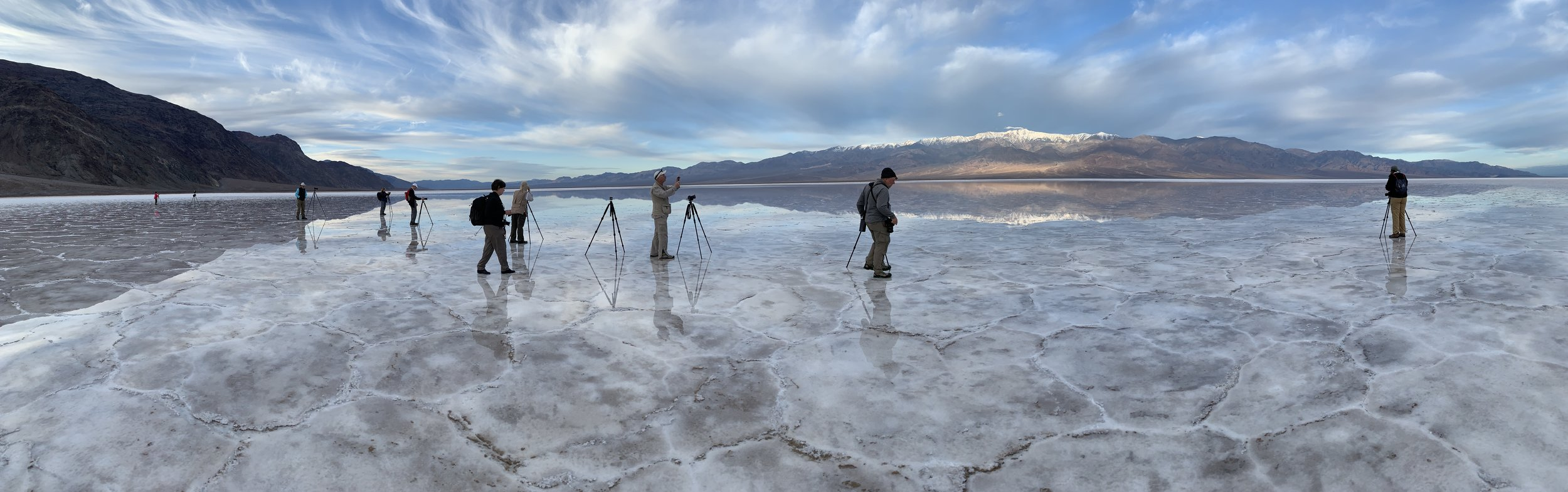 Our workshop group at Badwater