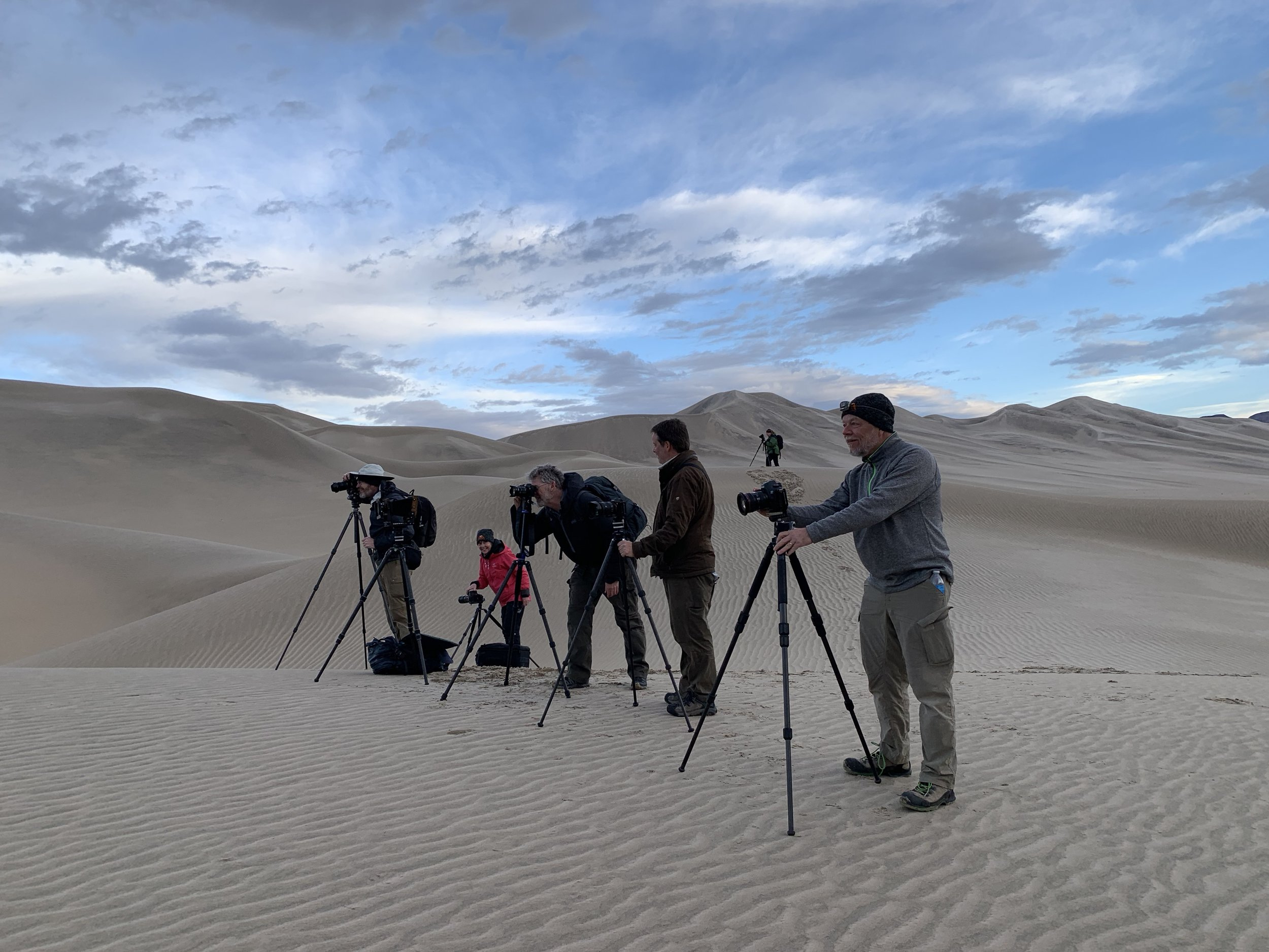 Our workshop group in the Eureka Dunes