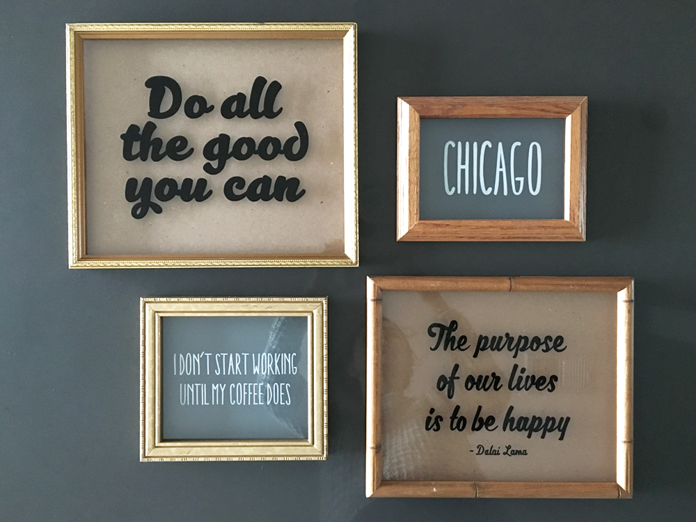 Do all the good - $100/ Chicago - $50/ Coffee - $60/ Dalai Lama - $90
