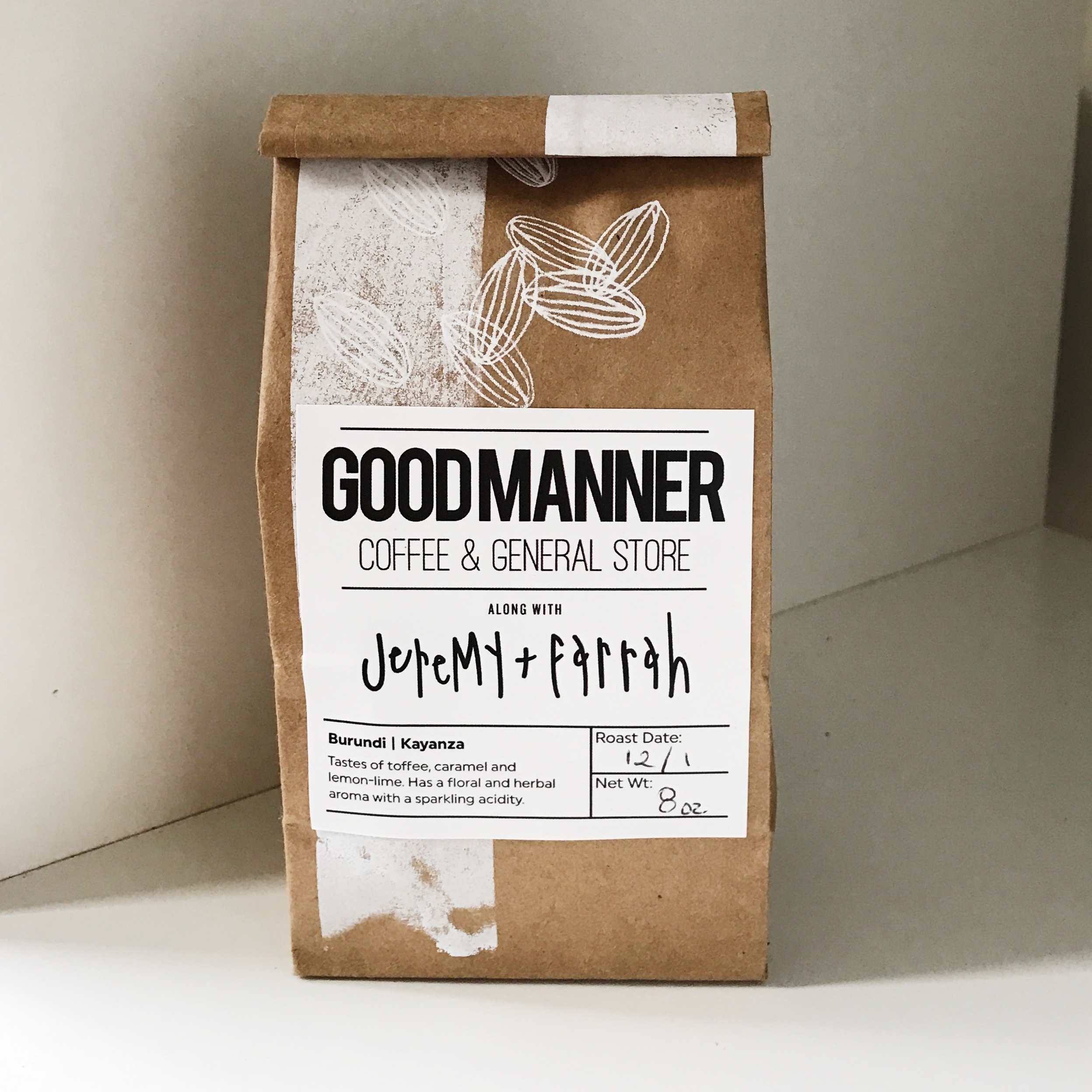 FIRST EDITION, SCREEN PRINTED FOR GOODMANNER COFFEE