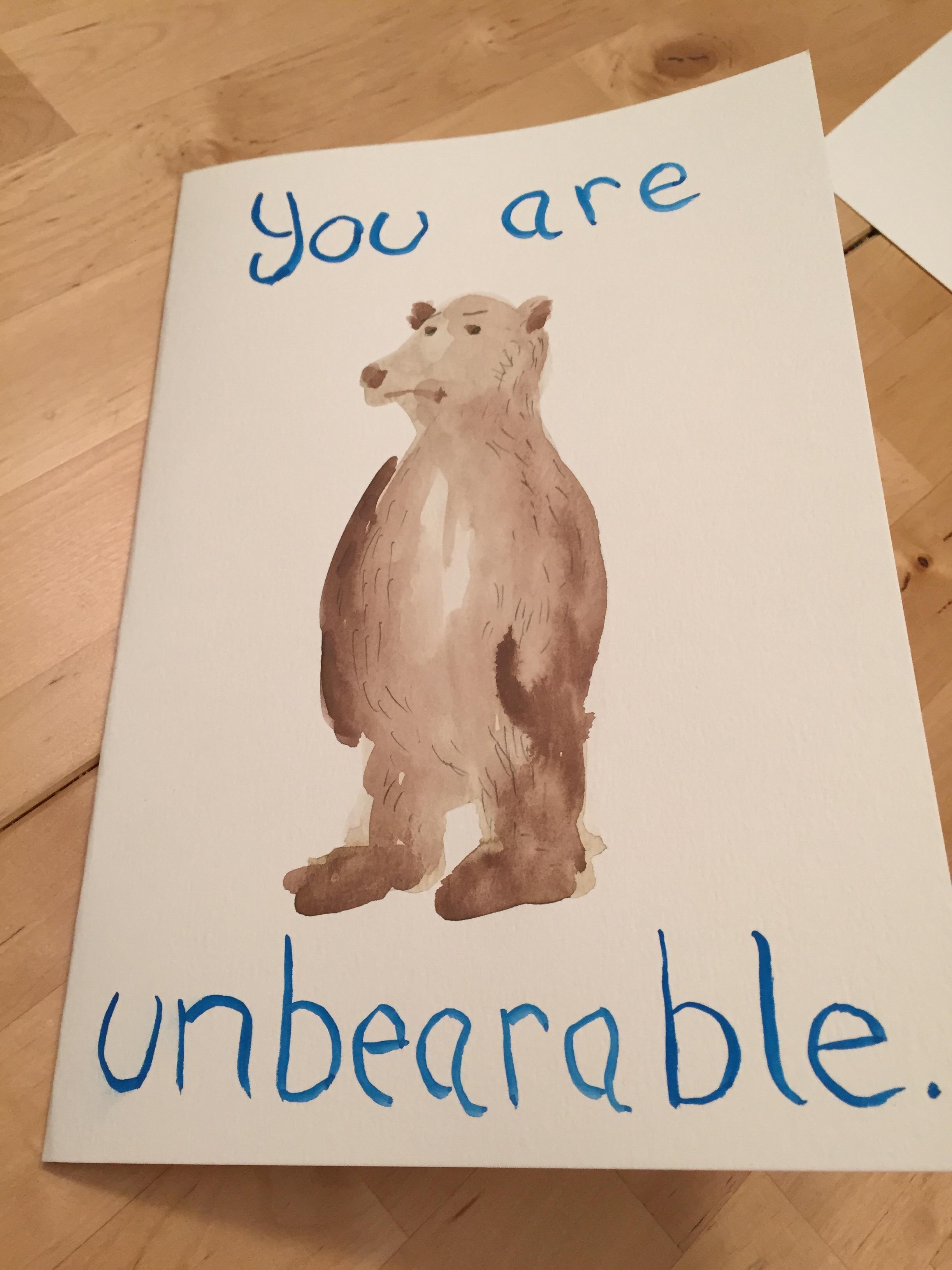 Unbearable card
