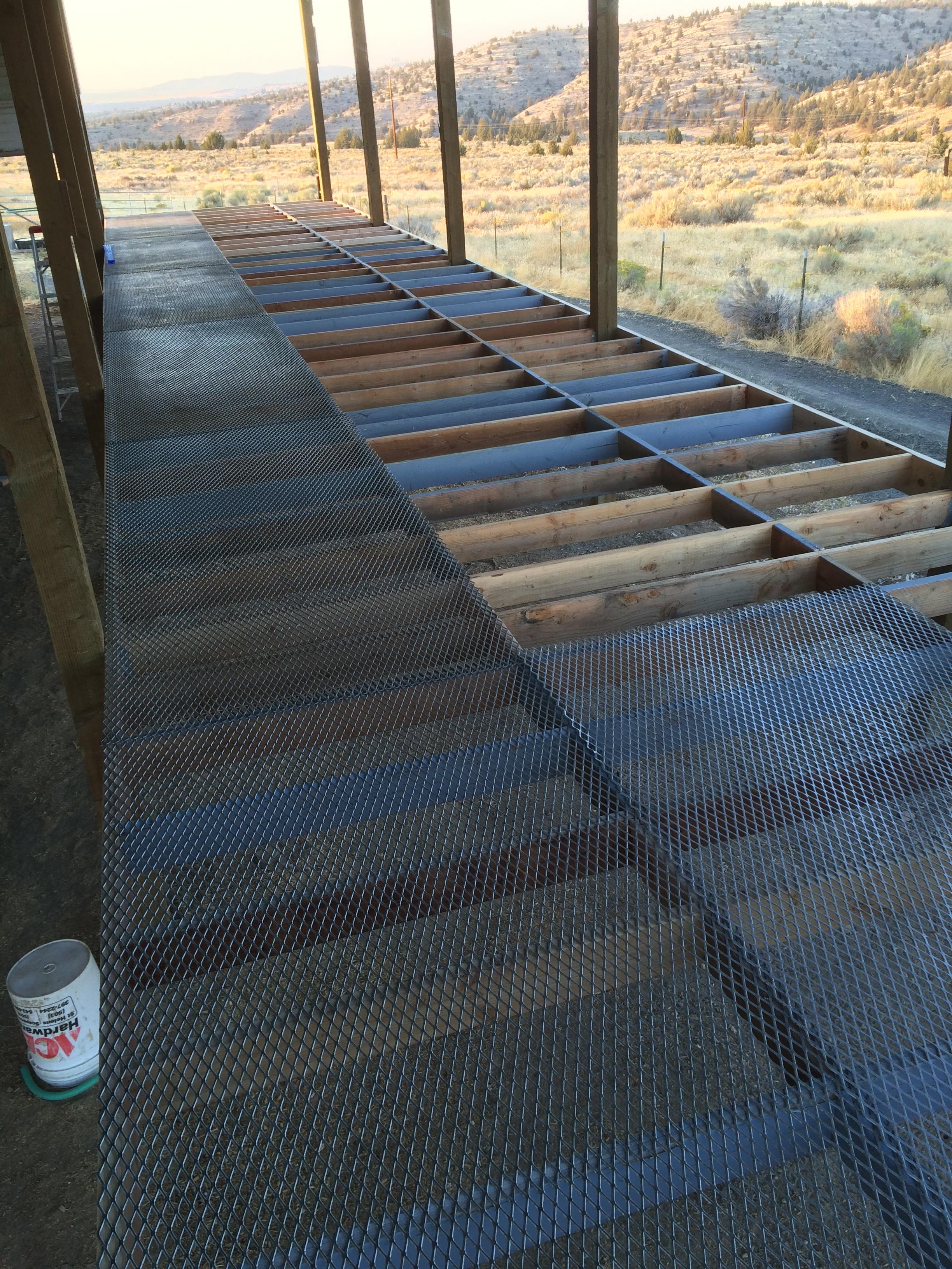 Expanded metal flooring