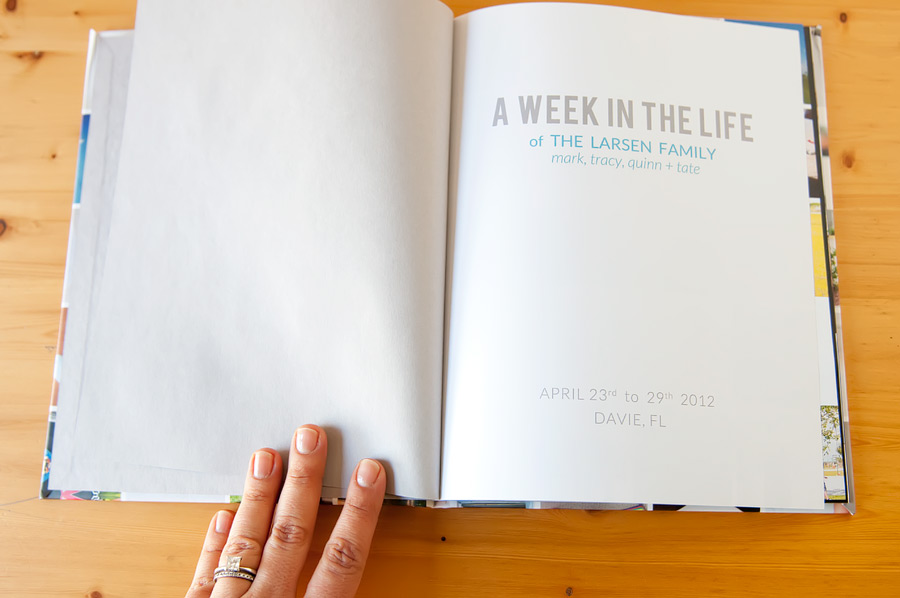 week in the life 2012 - photo book => tracy-larsen.com/blog