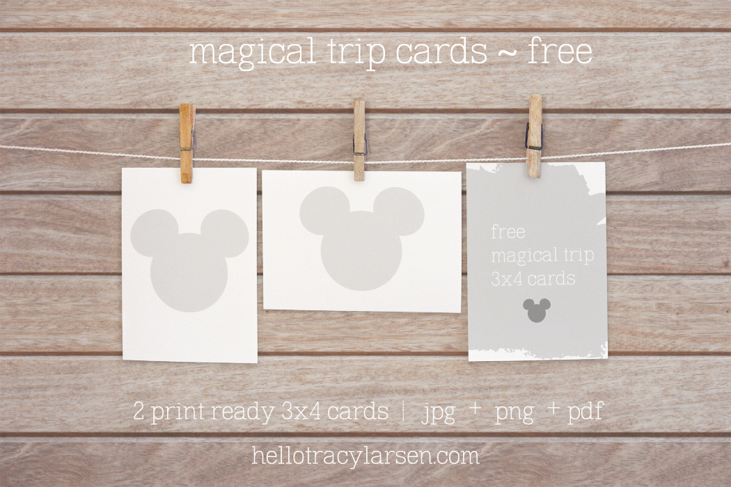 free 3x4 journal cards for project life - disney trip ==>> hellotracylarsen.com