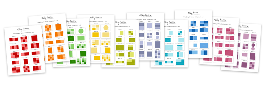 the simply white collection - printable index pages ==>> hellotracylarsen.com